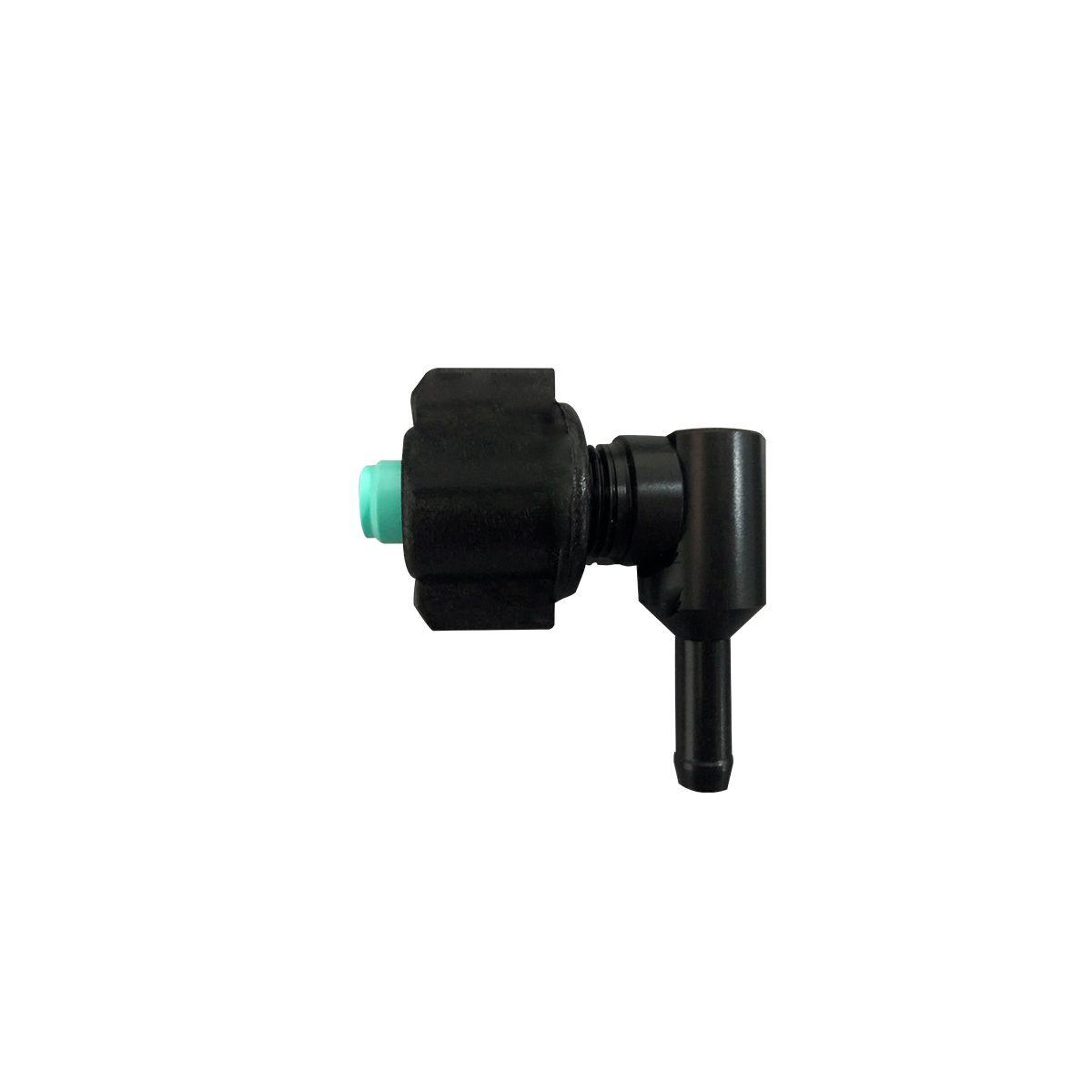 Conector Plastico Em L 3/8 Com Bico Cônico e Capa do Bico