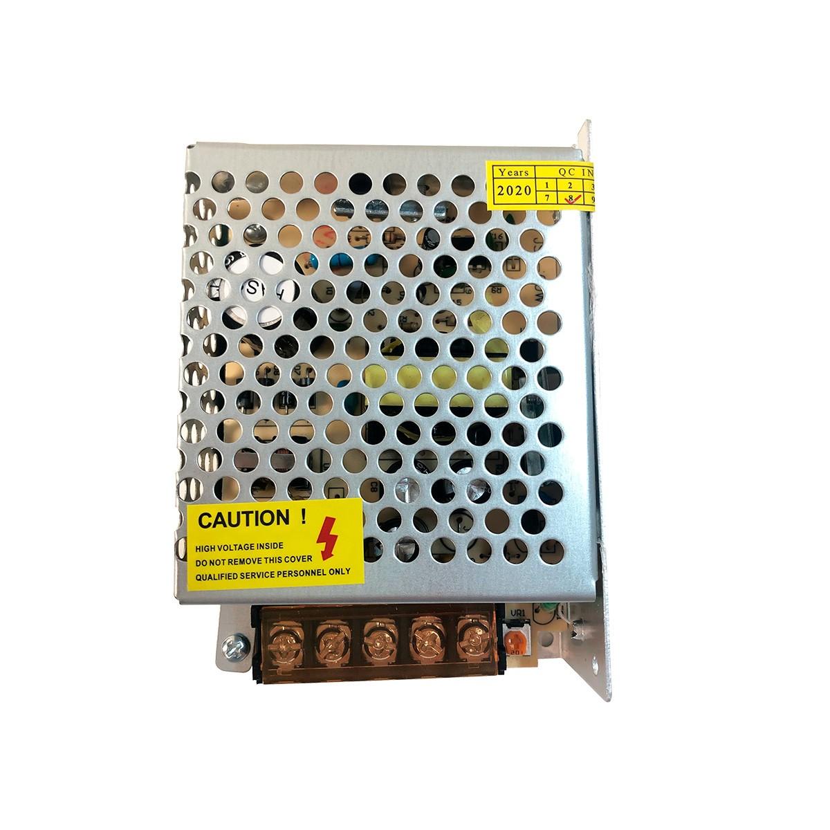 Fonte de Alimentação Colmeia 12V 5A + Cabo de Energia com Conector P4 Fêmea/Macho + Cabo de Energia com Tomada 1,20 mt