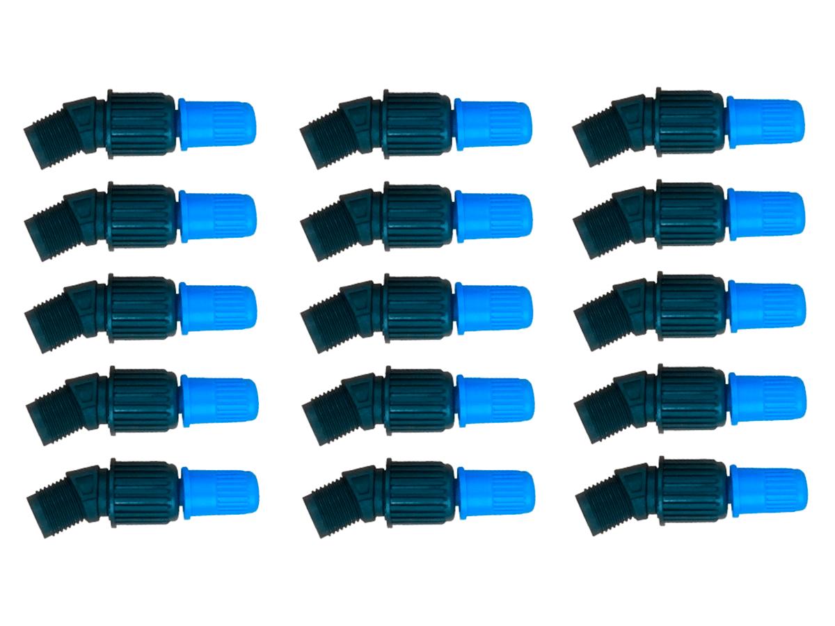 Kit 15 Unidades Bico Cônico Regulável Azul