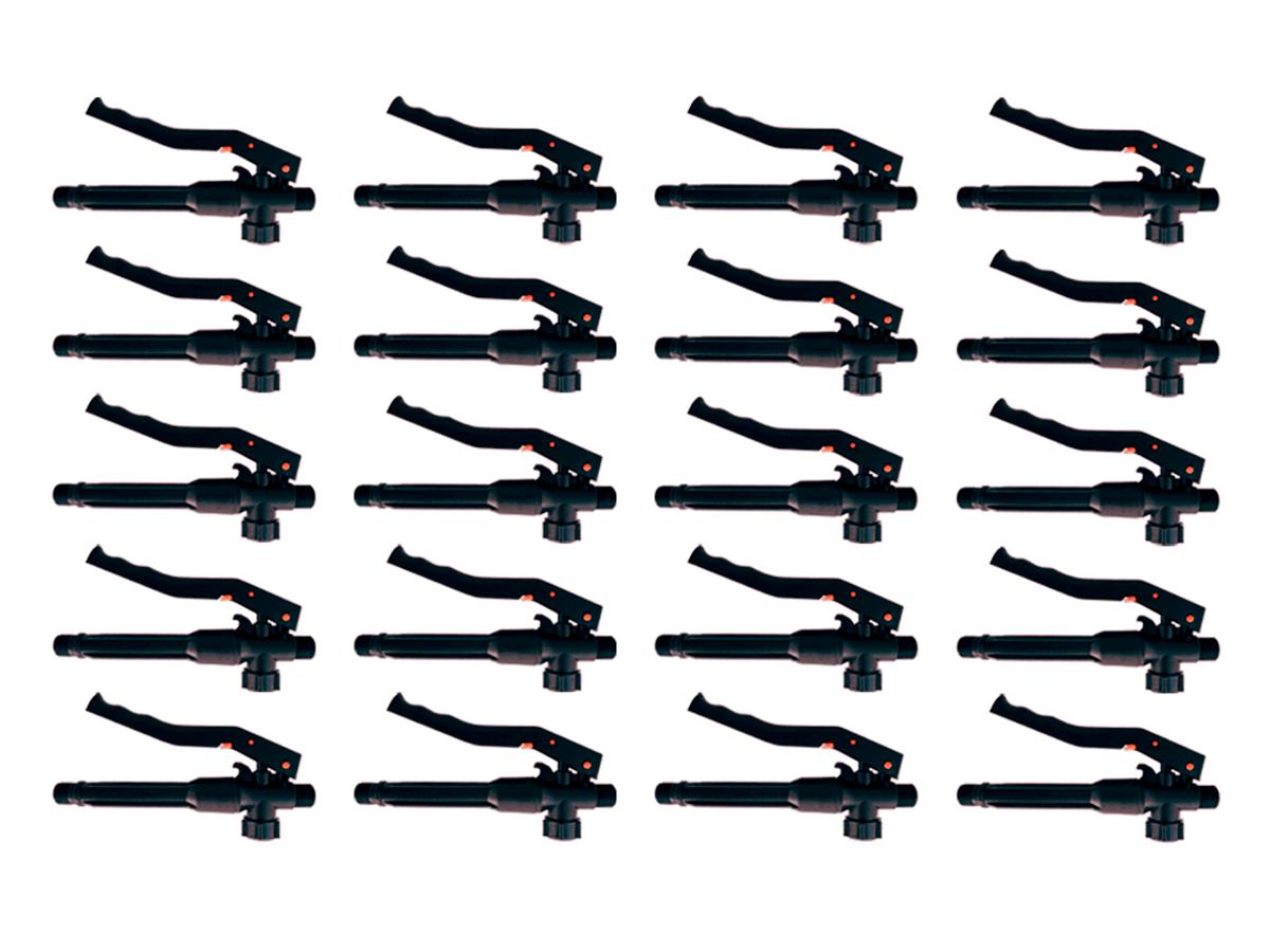 Kit 20 Gatilhos Registro Completo de Plástico