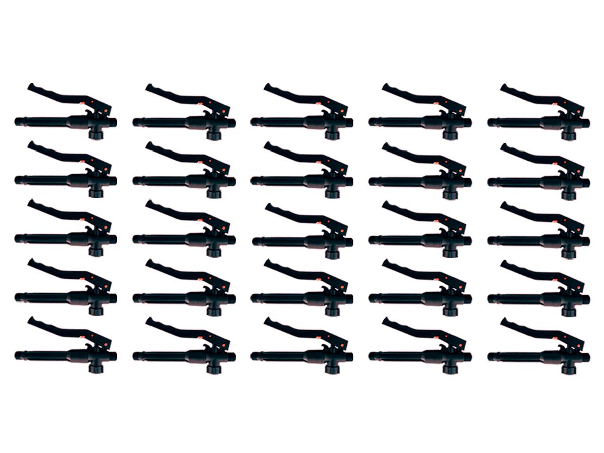 Kit 25 Gatilhos Registro Completo de Plástico