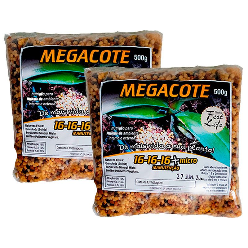 kit 2 Unidades Adubo Megacote 16-16-16 500g