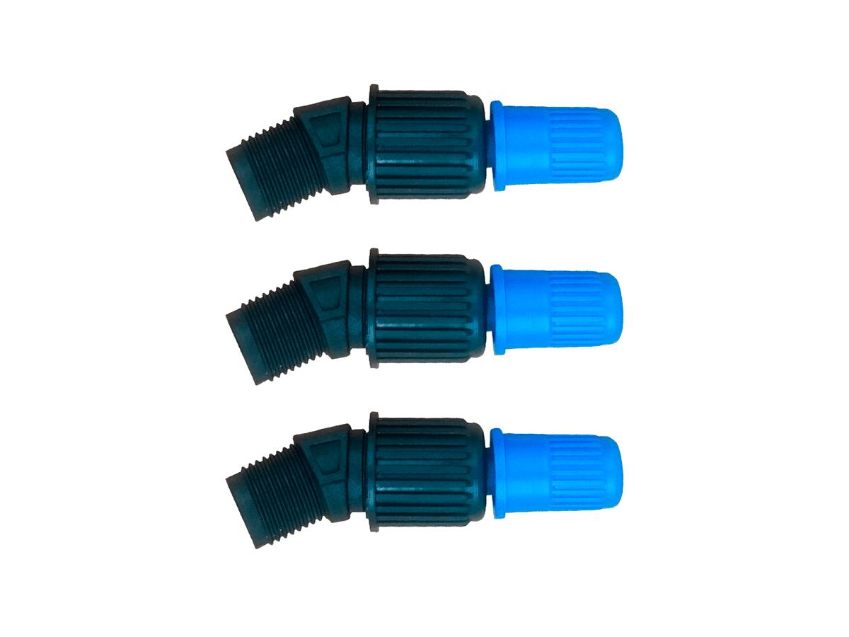 Kit 3 Unidades Bico Cônico Regulável Azul