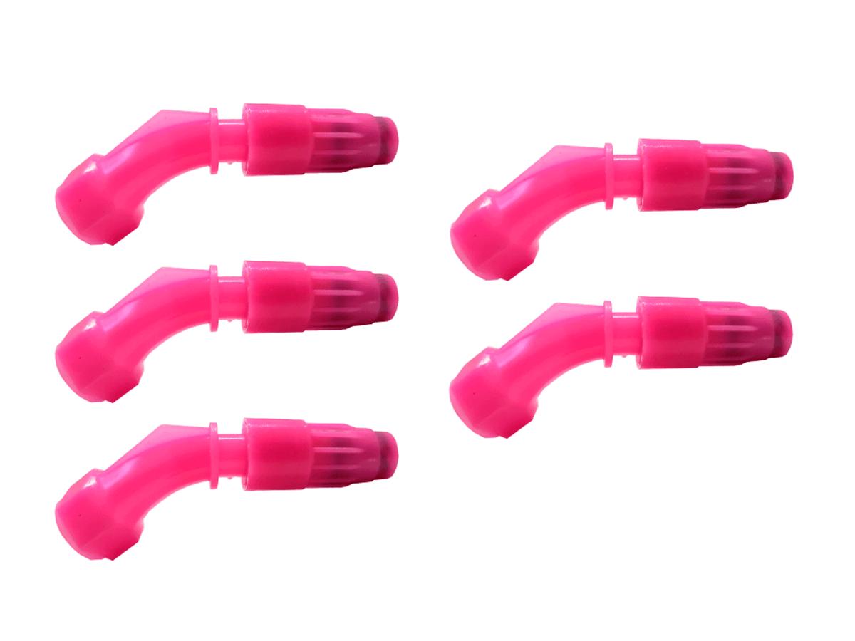 Kit 5 Bico Cônico Regulável Rosa