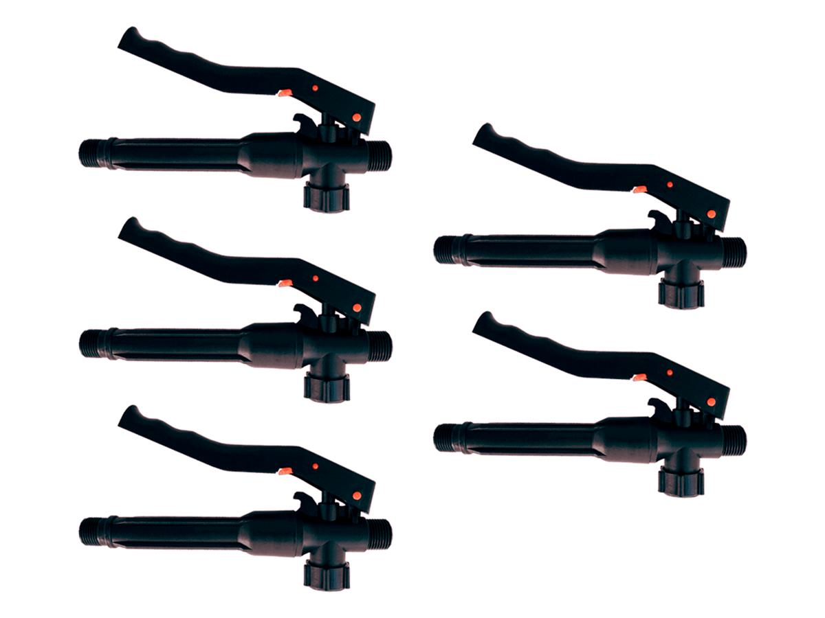 Kit 5 Gatilhos Registro Completo de Plástico