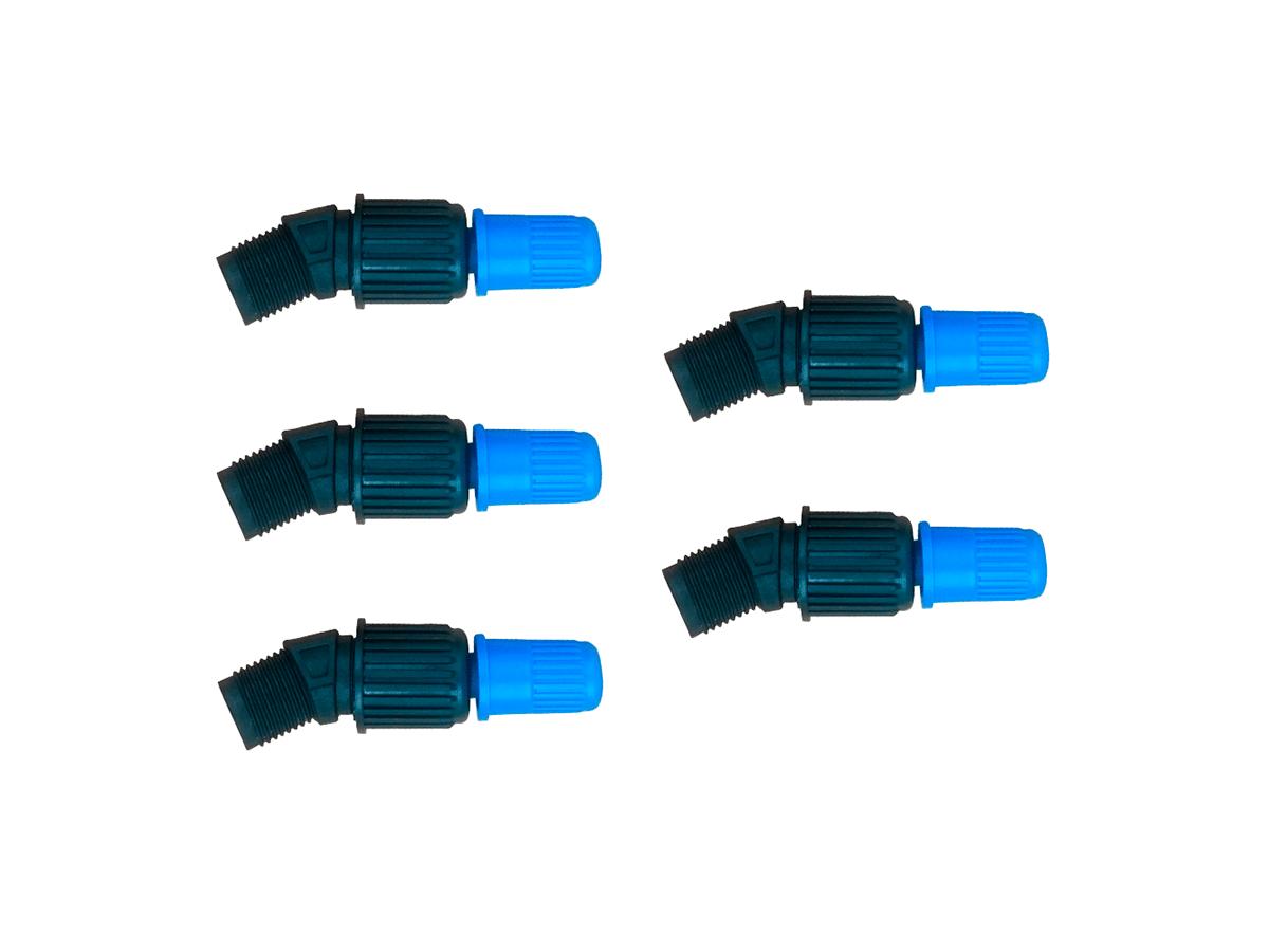 Kit 5 Unidades Bico Cônico Regulável Azul