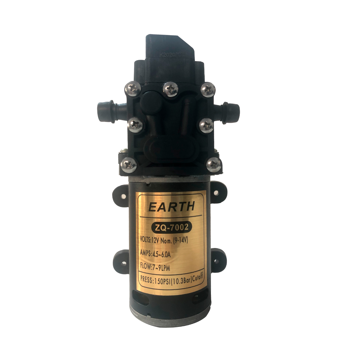 Kit Bomba Diafragma 150psi + Fonte colmeia 12V 10AH + Cabo P4 Fêmea + Cabo P4 Macho + Cabo de Energia Com Tomada 1,20MT