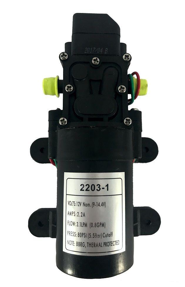 KIt Bomba Diafragma 12v 80psi e Controle Pressão