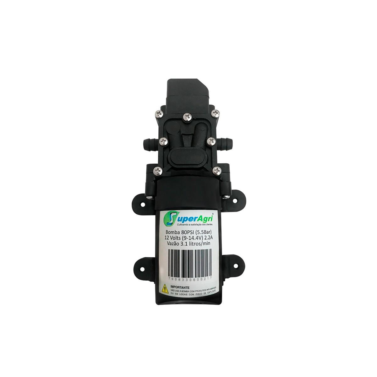 Kit De Reparo para Pulverizador 16L Bomba 80PSI + Controle de Pressão + Bateria + Carregador