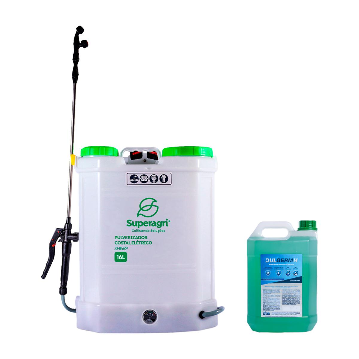 Kit Dux Defender Dul Germ H 5 Litros + Pulverizador Elétrico 16 litros SuperAgri