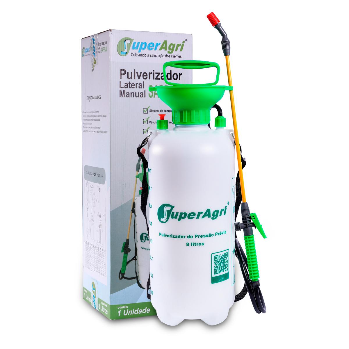 Kit Dux Defender Dul Germ H 5 Litros + Pulverizador Pressão Acumulada 8 Litros SuperAgri SAPPA8L