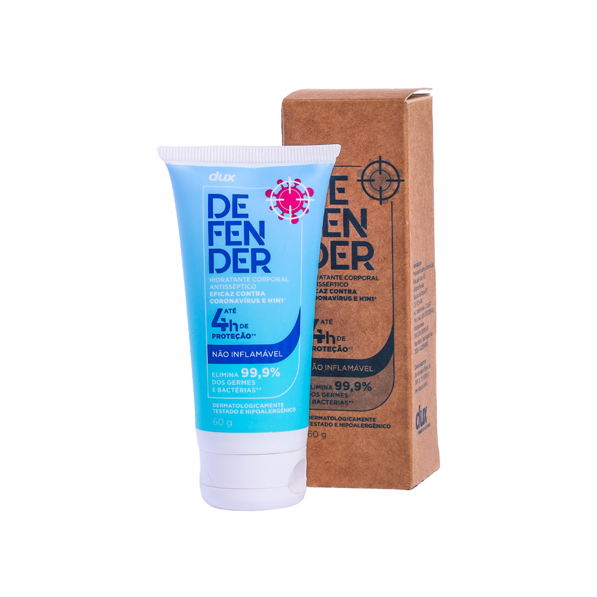 Kit Máscara SuperAgri + Dux Defender Hidratante Antisseptico 60g