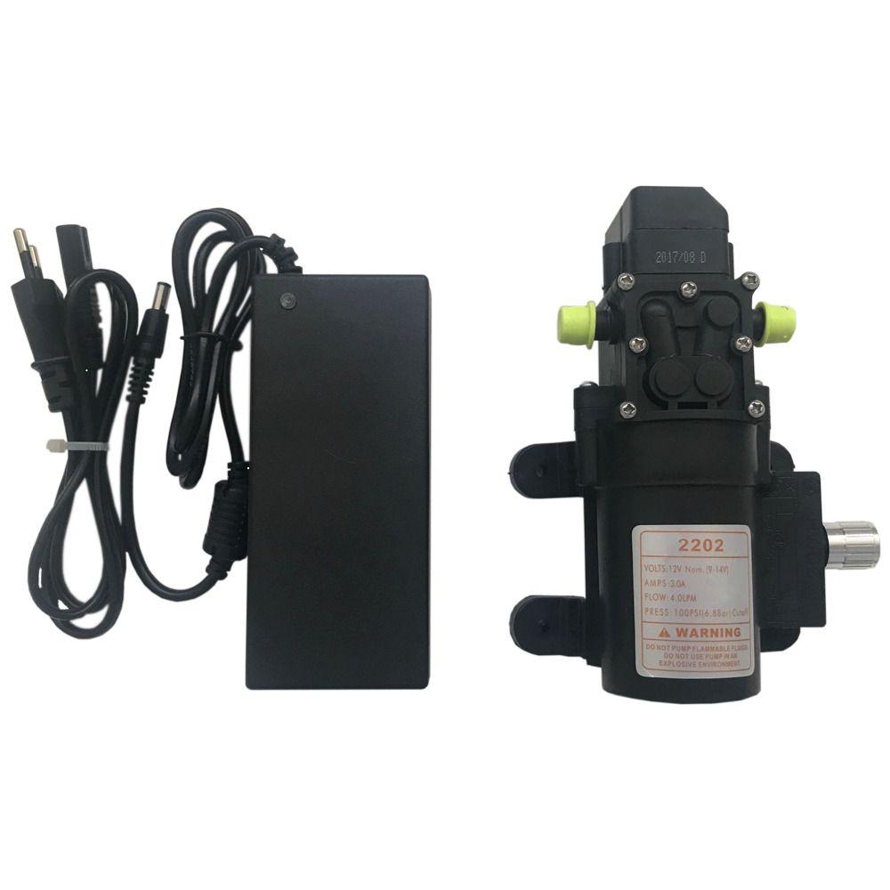 Kit Motor Bomba Diafragma 100 Psi + Fonte Alimentação + Controle de Pressão