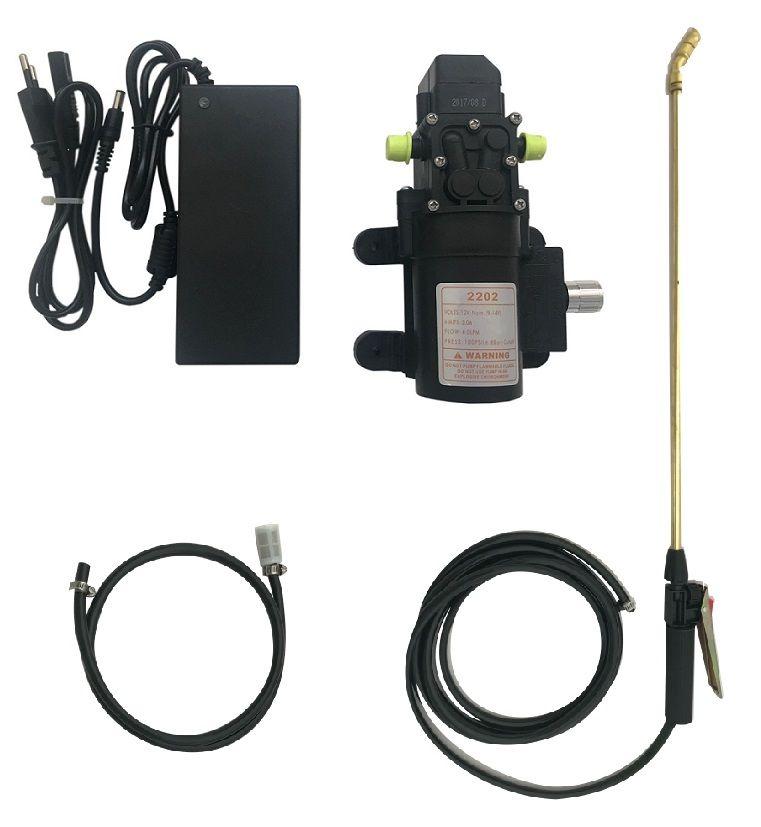 Kit Motor Diafragma 100psi, Fonte, Controle Pressão, Lança e Gatilho