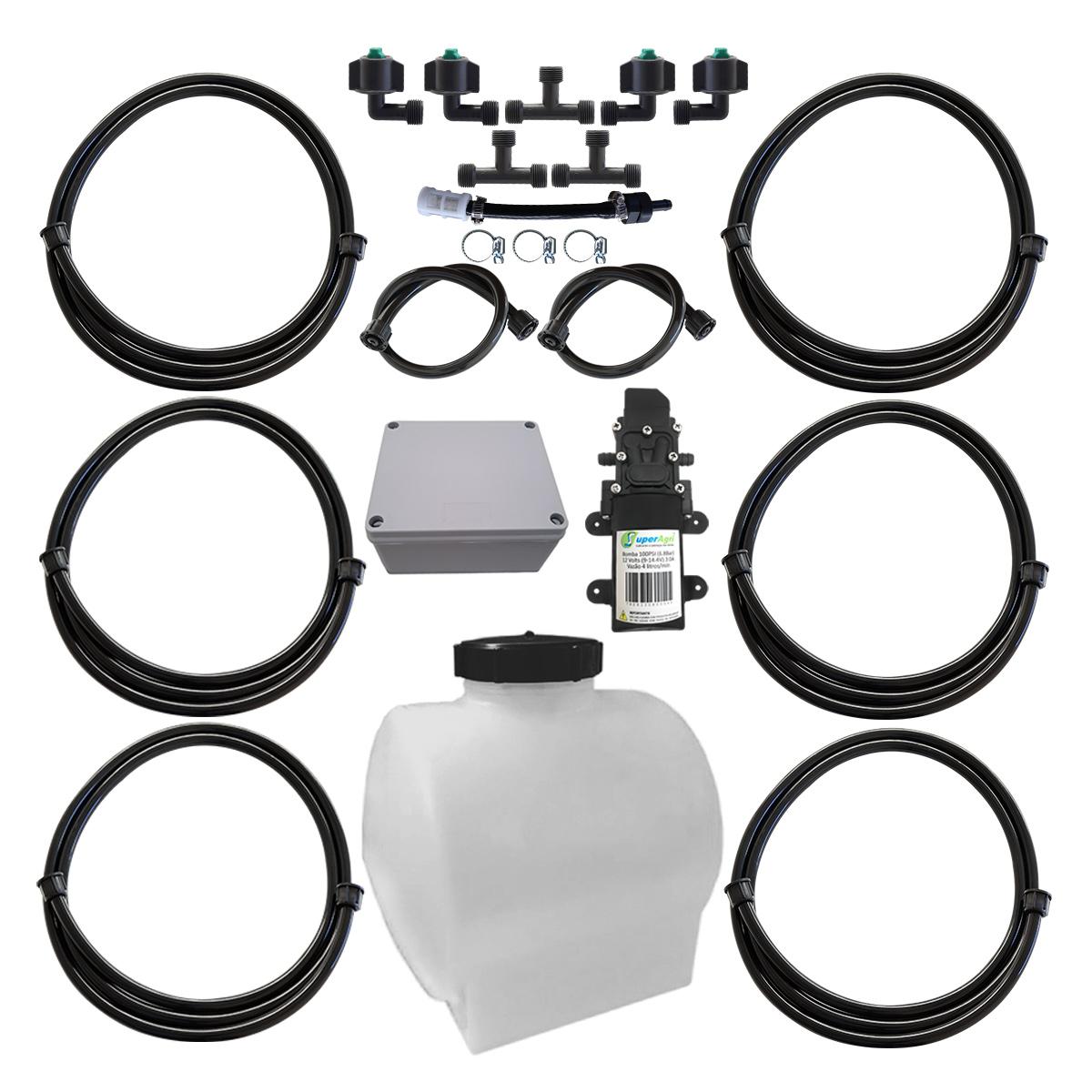 Kit Para Aplicação De Inoculante 4 Bicos Tanque 50 Litros