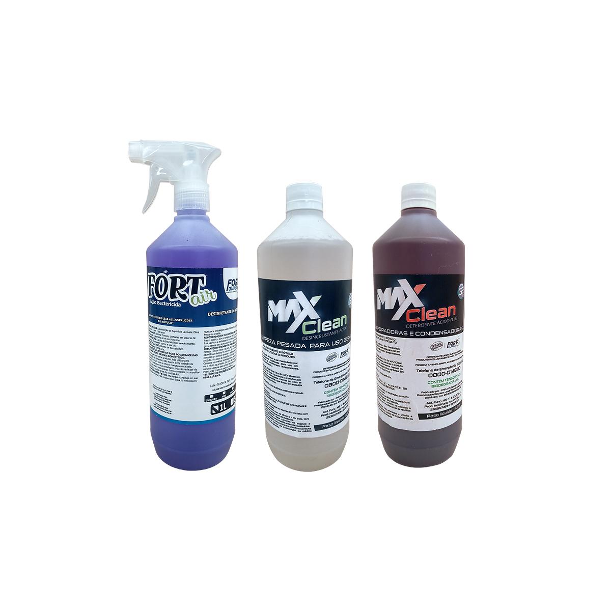 Kit Produtos De Limpeza 1 Litro (detergente, desincrustante e bactericida)