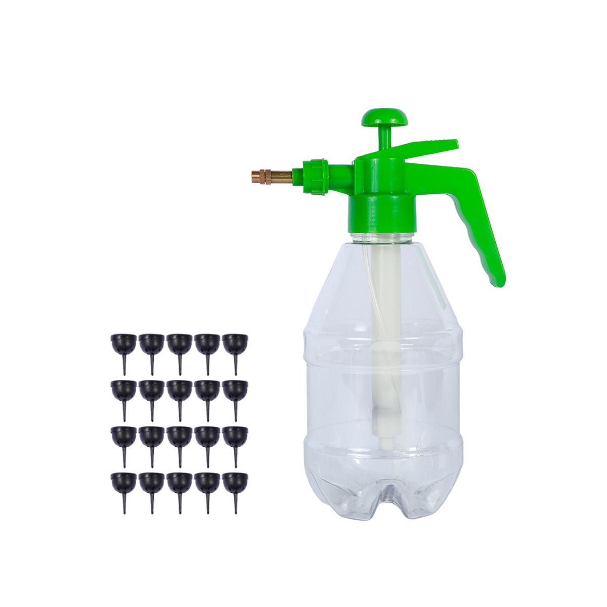 Kit Pulverizador De Pressão Acumulada de 1,5 Litros + 20 Porta Adubos