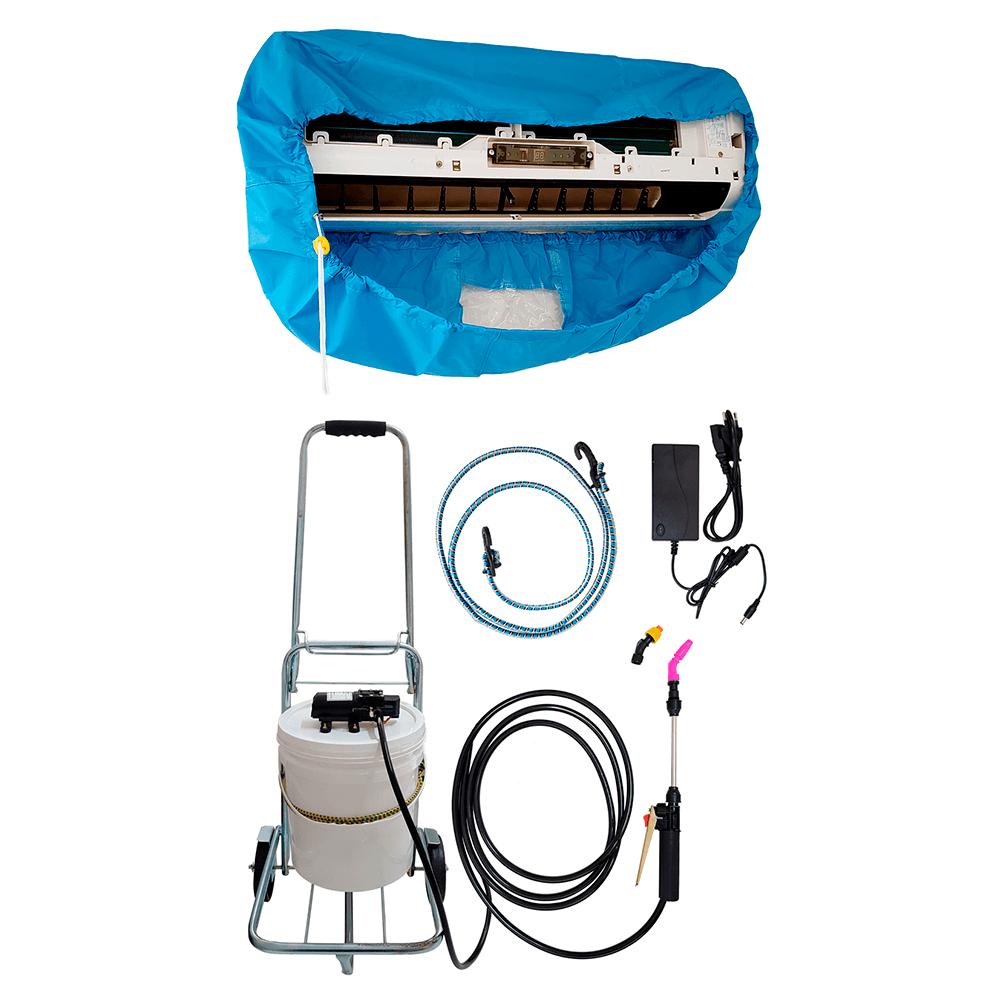 Lavadora Elétrica 12L 100PSI Carrinho + Bolsa Coletora até 18000 BTUS