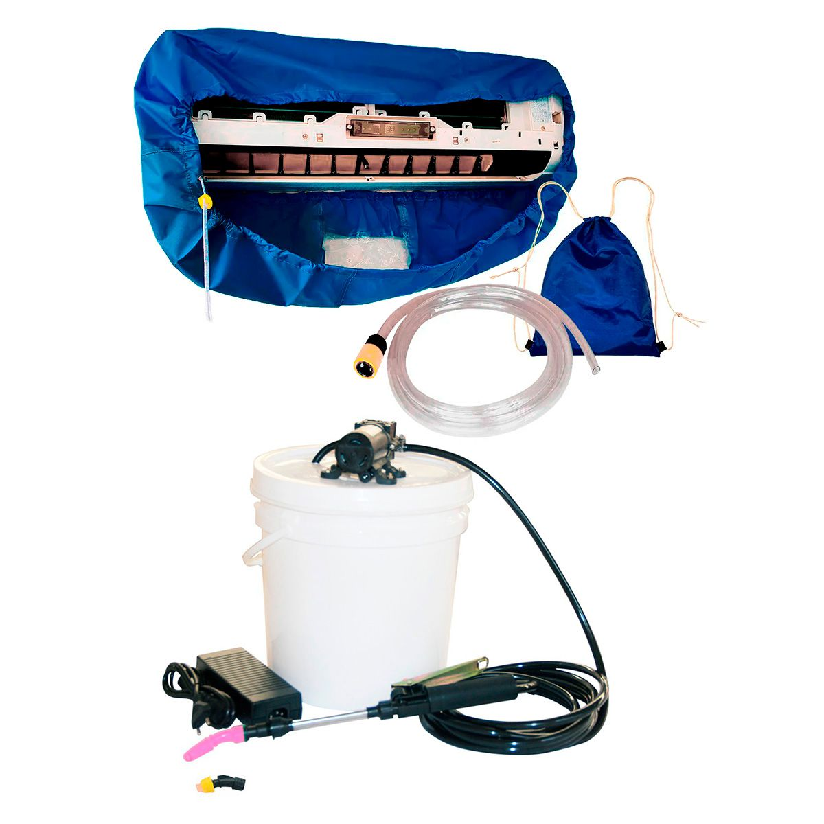Lavadora Elétrica 12L 80PSI + Bolsa Coletora até 12000 BTUS