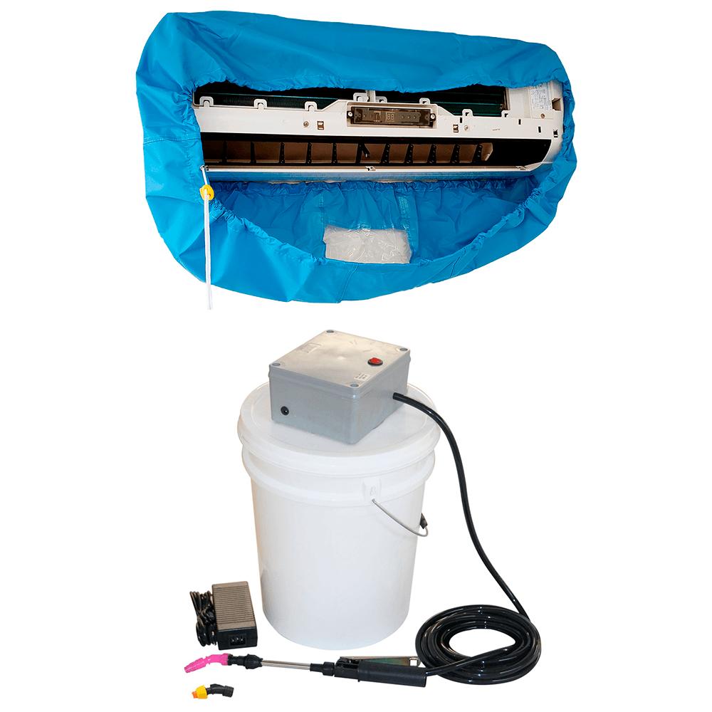 Lavadora Elétrica 18 Litros 100 PSI Caixa Proteção + Bolsa Coletora Até 18000 BTUS