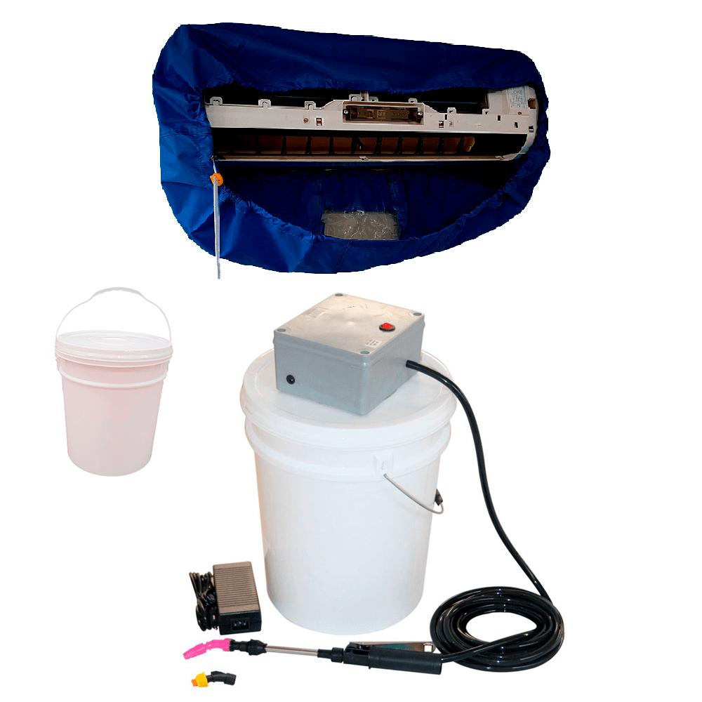 Lavadora Elétrica 18L 80 PSI Caixa Proteção + Bolsa Coletora Até 36000 BTUS + Balde de Plástico 18L