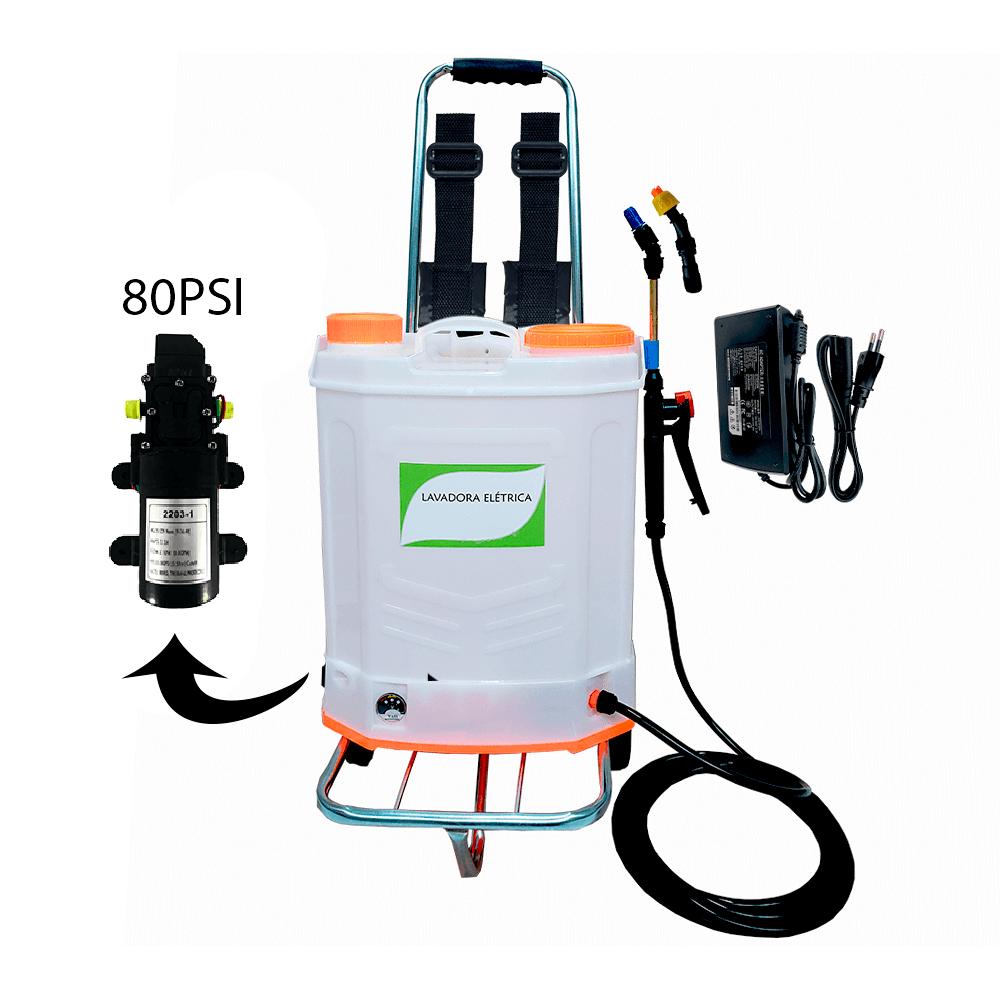Lavadora Elétrica 20 Litros 80 PSI Com Carrinho