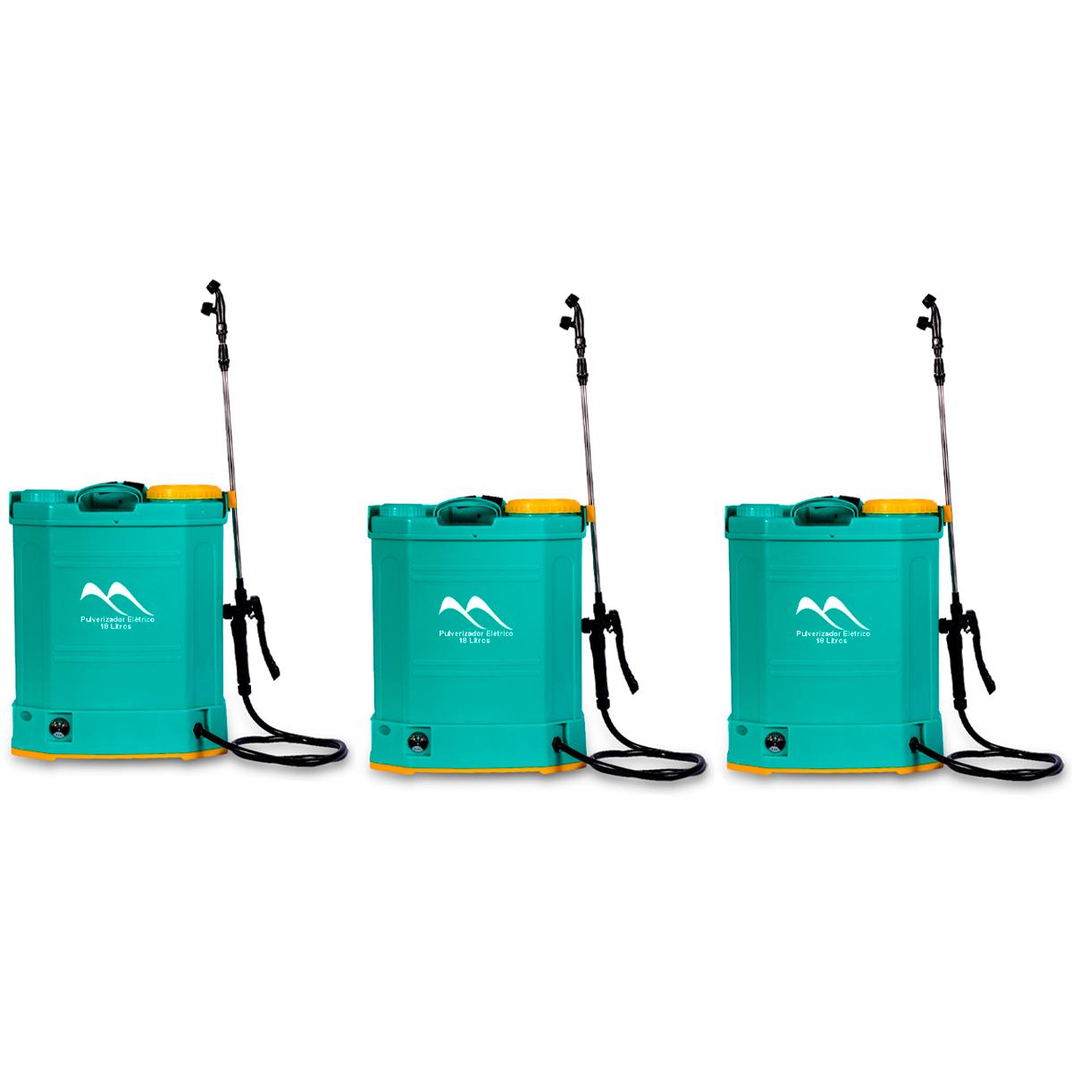 Lote 3 Unidades Pulverizador Elétrico 18 Litros LDC