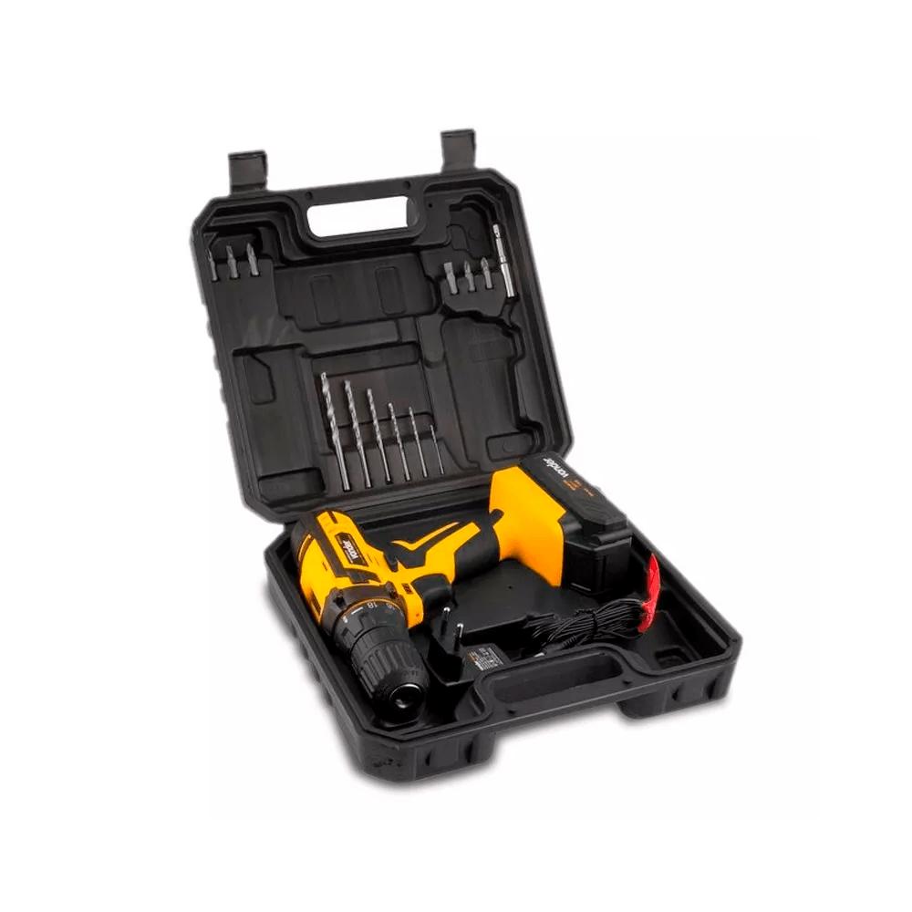 Parafusadeira 12V PFV 012 Vonder Com Maleta + Kit 12 Chaves Combinada 06 a 17mm