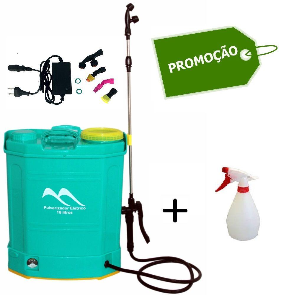Pulverizador Costal Elétrico 18 L + Brinde Pulverizador 500 ml