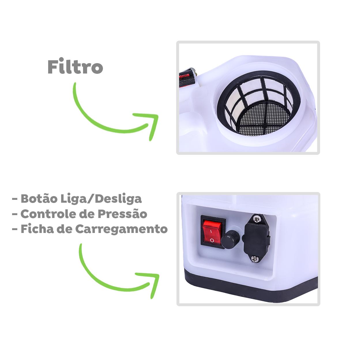 Pulverizador Elétrico 20 Litros 100Psi SuperAgri SAP20L100P