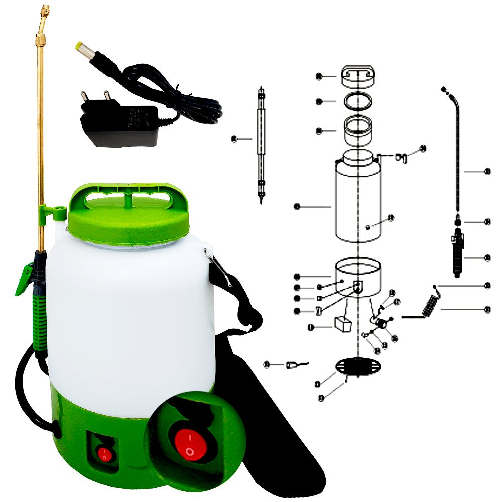 Pulverizador Elétrico 5 Litros SuperAgri