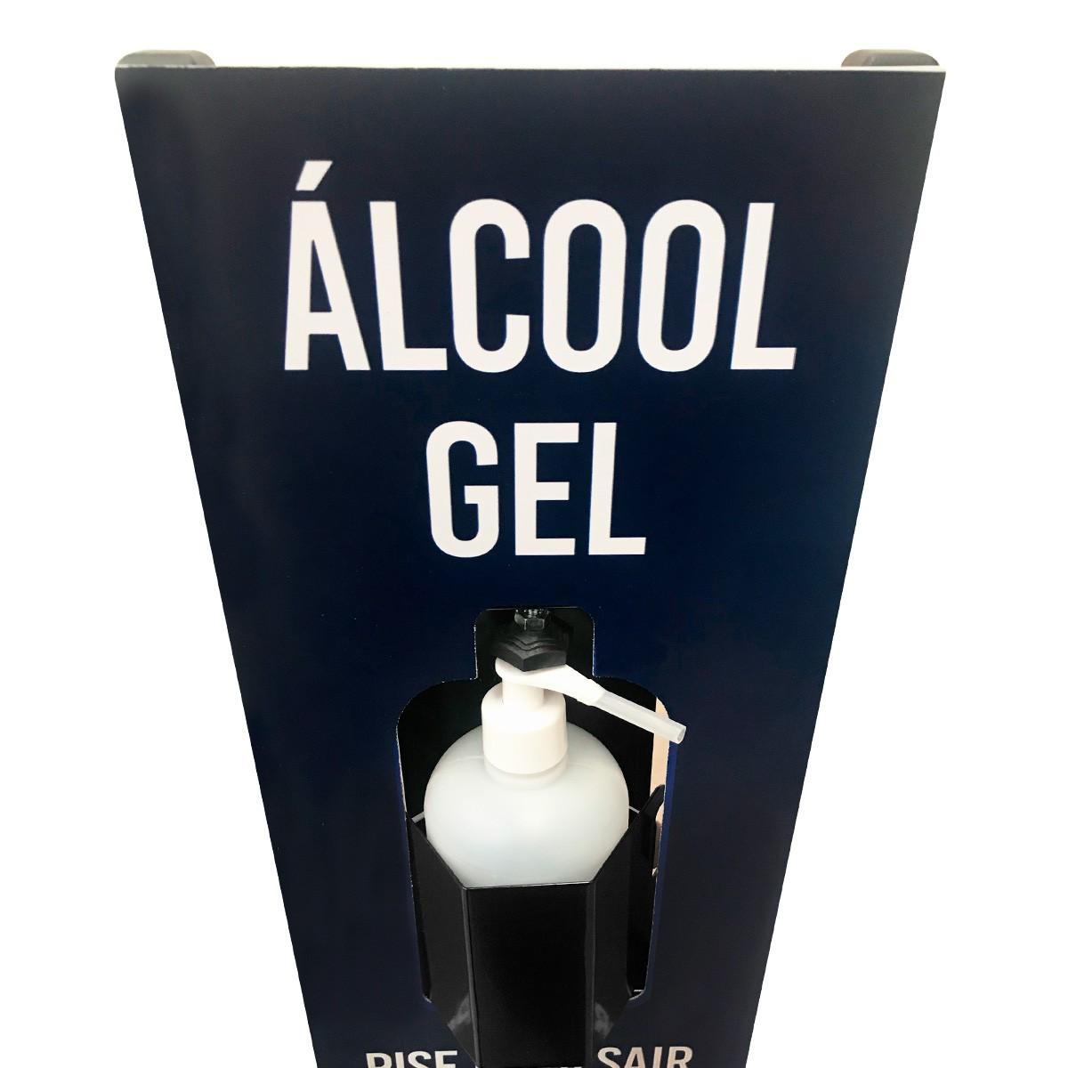 Tenda Para Desinfecção Completa + Suporte Display Para Álcool Gel 1200H 200ml + Borrifador de 1,5 L SuperAgri