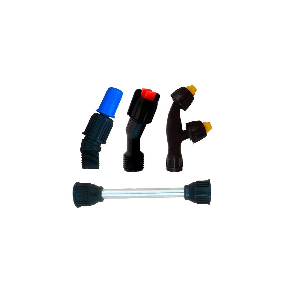 Tubo da Lança 13 cm + Bico Regulável + Bico Leque + Bico Duplo Leque