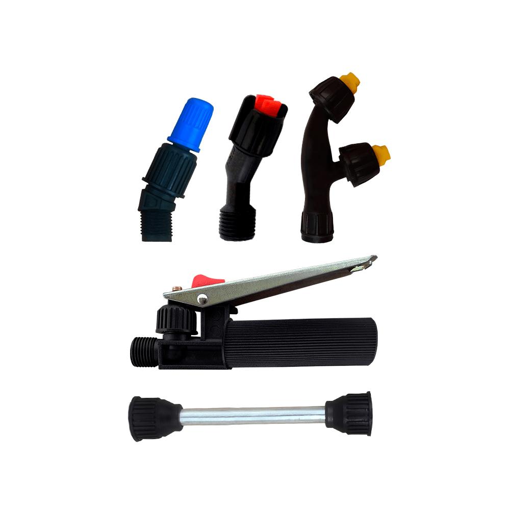 Gatilho + Lança 15 cm + Bico Regulável + Leque + Duplo Leque