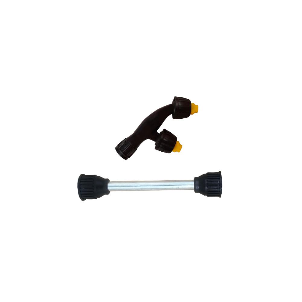 Tubo da Lança 15 cm + Bico Leque Duplo