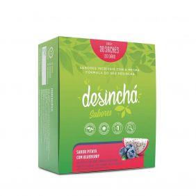 Caixa Desinchá Sabor Pitaya e Blueberry com 30 unidades