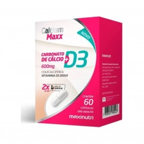 Calcium Maxx (Cálcio + Vitamina D3) 600mg 60 cápsulas Maxinutri