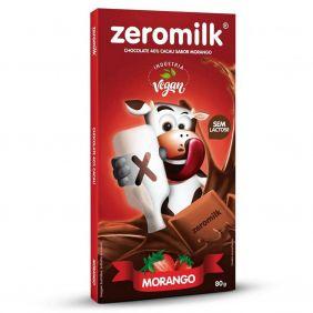 Chocolate Zero Leite Morango Zeromilk 80gr