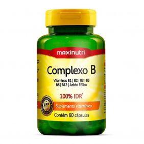 Complexo B 100% IDR 60 Cápsulas Maxinutri