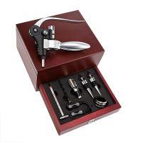 Conjunto profissional para vinhos 8 peças em caixa de madeira ZR616/2010