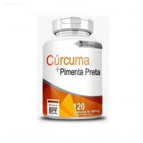 Cúrcuma com Pimenta Preta 500mg 120 cápsulas 4 Elementos