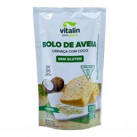 Mistura para Bolo sem Glúten Aveia-Linhaça-Coco 300gr Vitalin