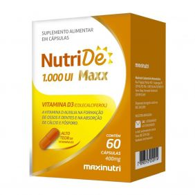 Nutride Maxx Vitamina D 1000UI 60 cápsulas 400mg Maxinutri