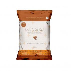 Pipoca Artesanal sabor Caramelo e Flor de Sal 150gr Mais Pura