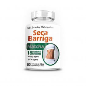 Seca Barriga com Matcha 500mg 60 cápsulas 4 Elementos