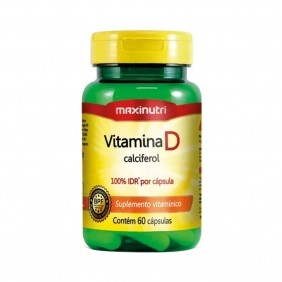 Vitamina D 100% IDR 60 cápsulas Maxinutri