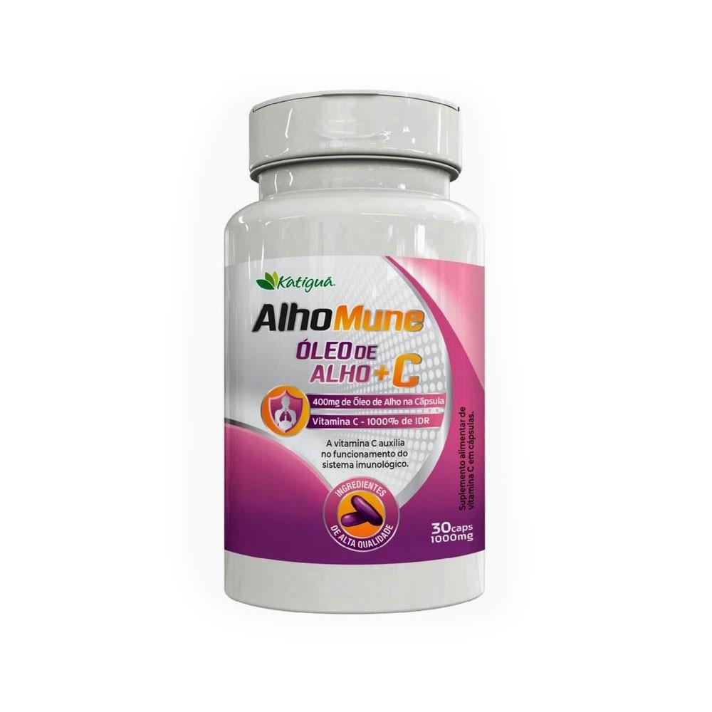 AlhoMune Óleo de Alho + Vitamina C 1000mg 30 cápsulas Katigua