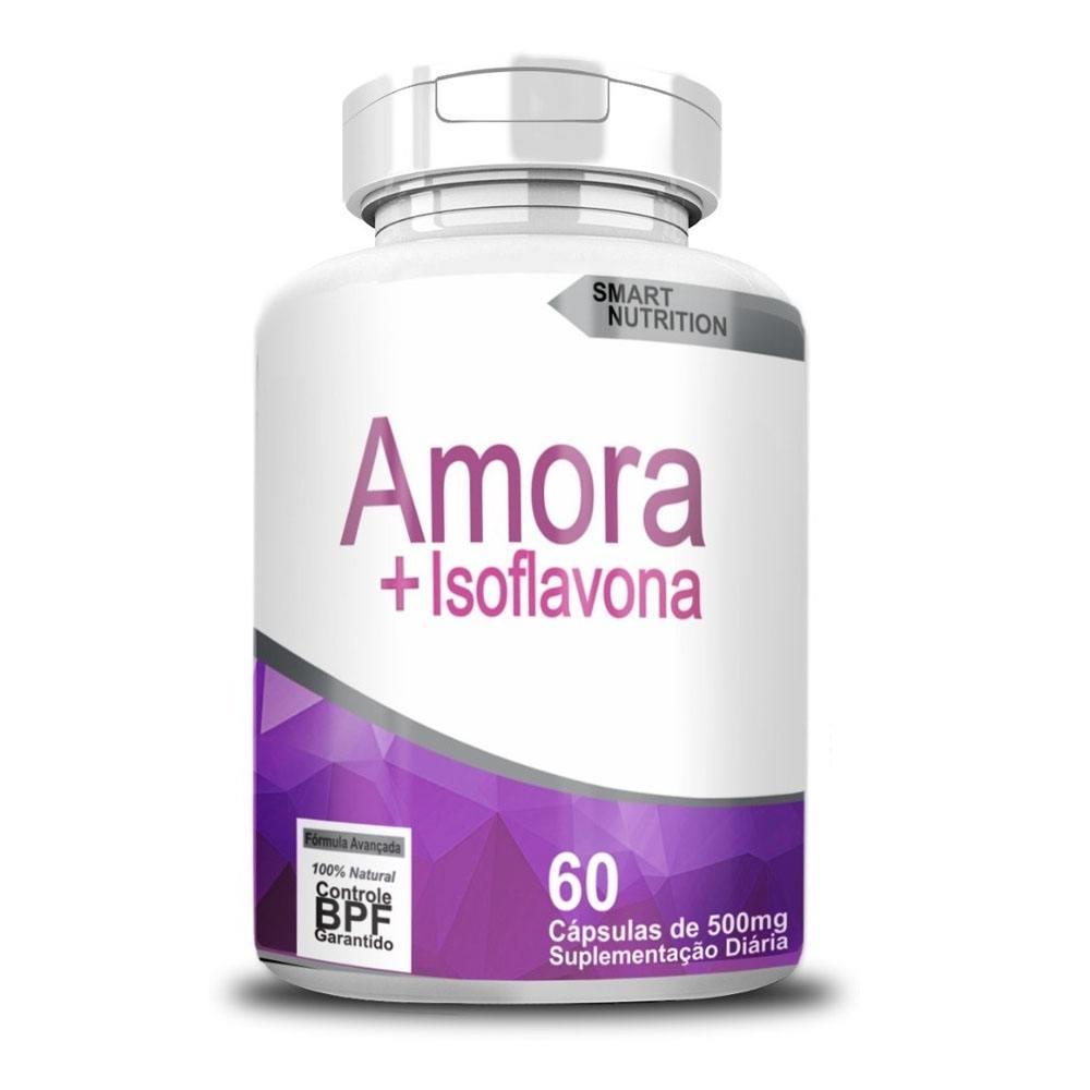Amora ccom Isoflavona 500mg 60 cápsulas 4 Elementos