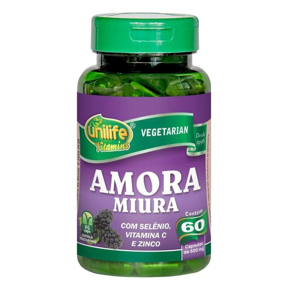 Amora Miura com Vitaminas 500mg 60 cápsulas Unilife
