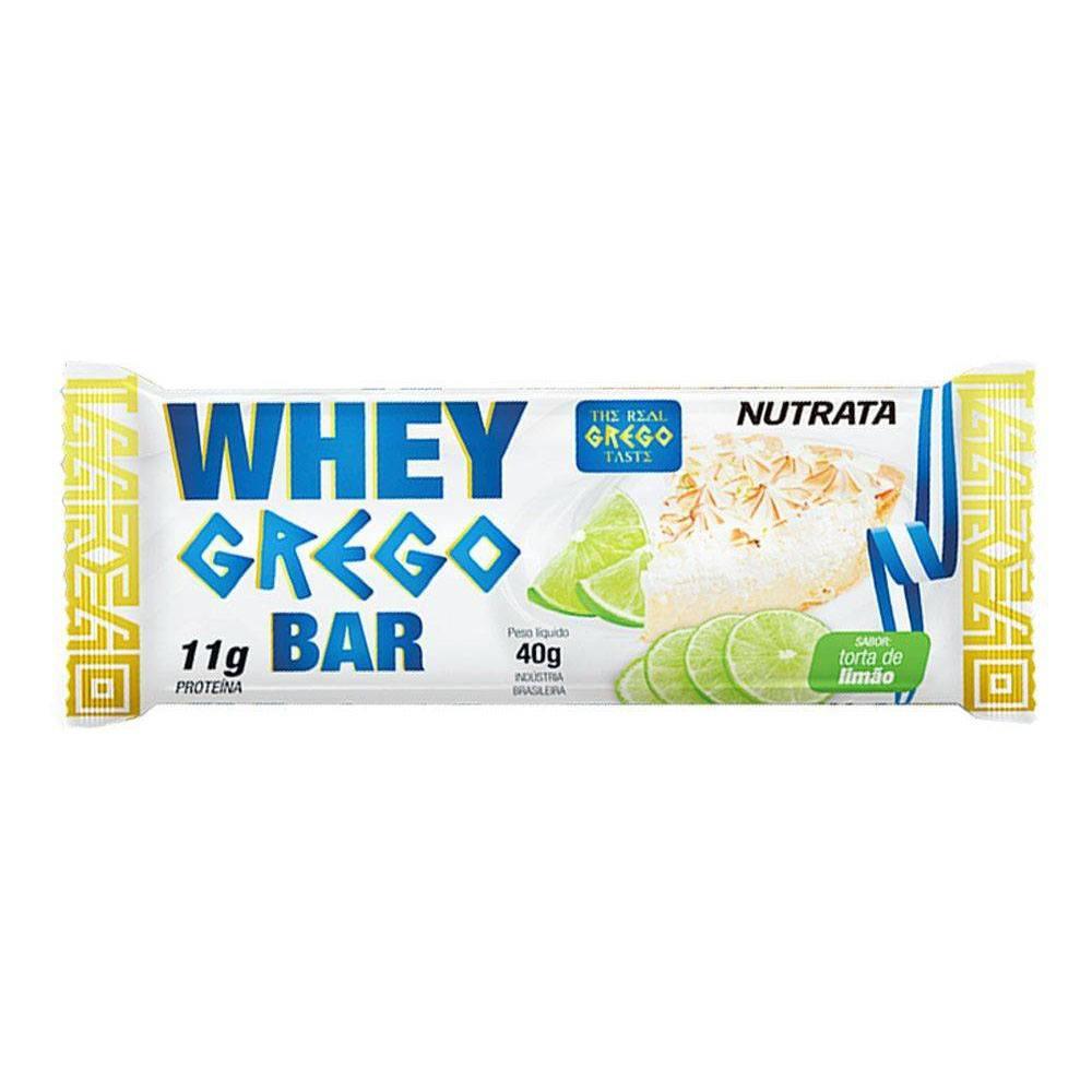 Barra Whey Grego Torta de Limão 40gr
